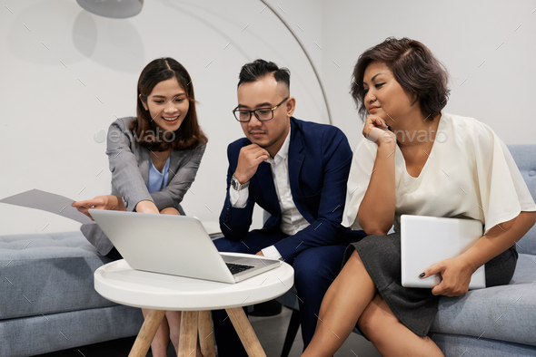 Discussing plans and ideas - Stock Photo - Images