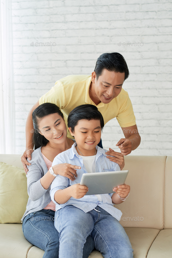 Enjoying Sunday with Parents - Stock Photo - Images