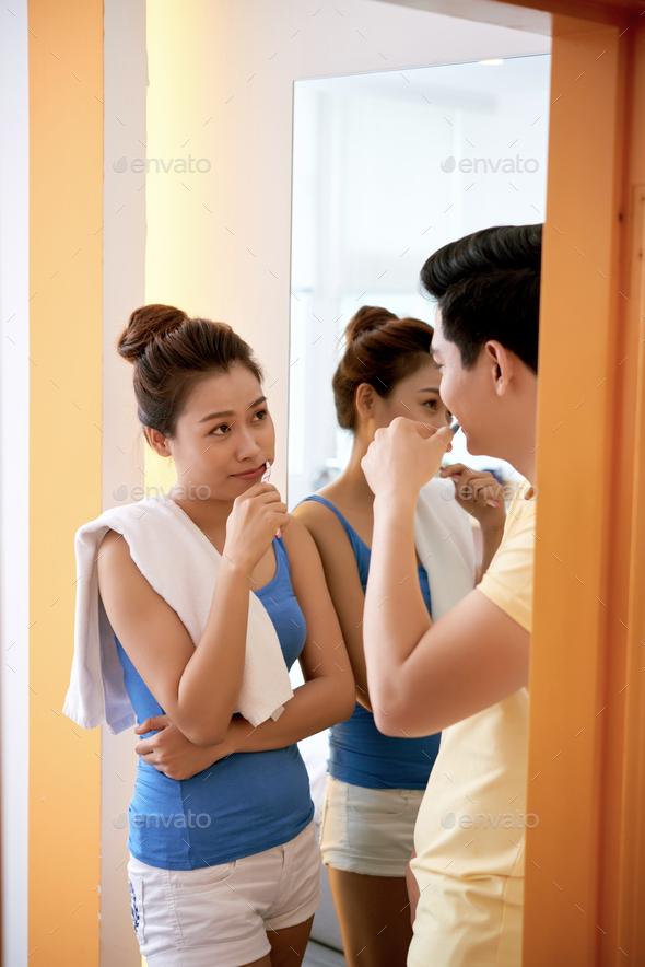 Brushing teeth - Stock Photo - Images