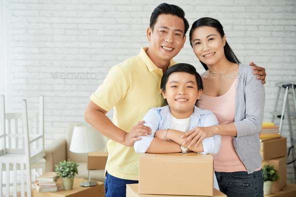 Capturing Moment of Relocation in New Apartment - Stock Photo - Images