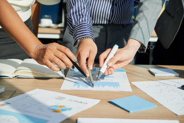 Analyzing financial chart - Stock Photo - Images