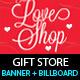 Gift Store Outdoor Banner & Billboard Design PSD