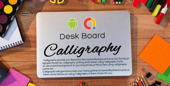 Calligraphy - Make Art & Design   Poster Maker   Logo maker   Android App   Admob