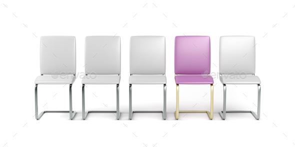 Unique pink chair - Stock Photo - Images