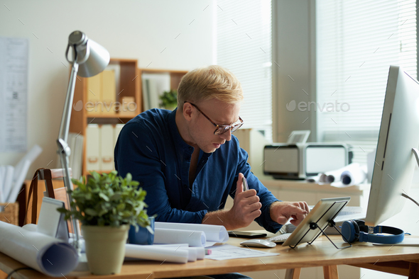 Checking message - Stock Photo - Images