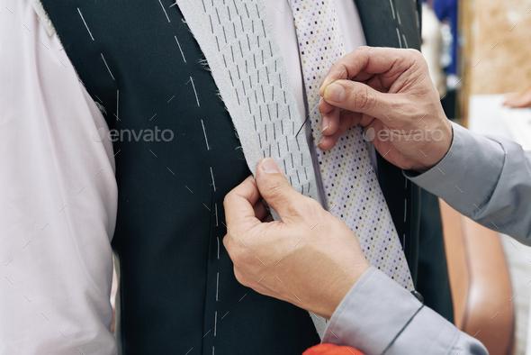 Basting lapel - Stock Photo - Images