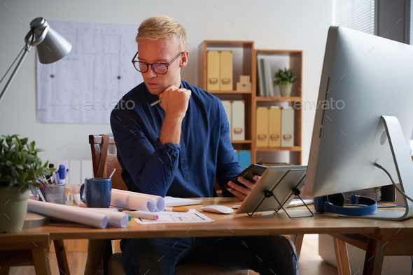 Working architect - Stock Photo - Images