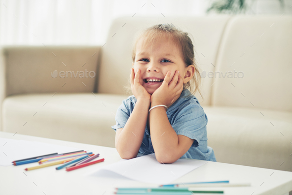 Cute adorable girl - Stock Photo - Images