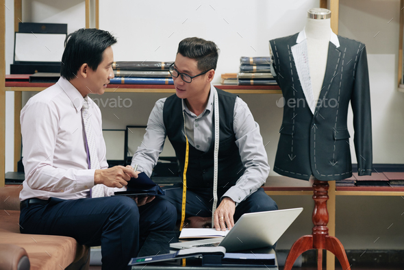 Meeting with tailor - Stock Photo - Images