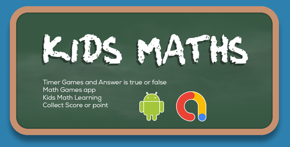 Kids Math Learning - Math Games   Math Master   Kids Math Learning  Android App   Admob Ads