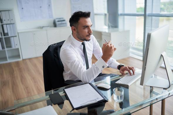 Analyzing business data - Stock Photo - Images