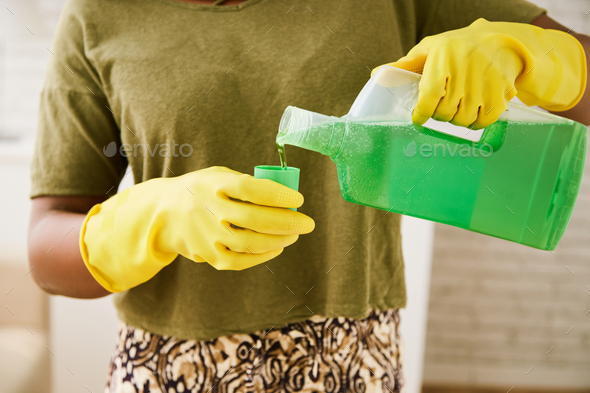 Pouring detergent - Stock Photo - Images