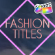 Fashion Titles | FCPX - VideoHive Item for Sale