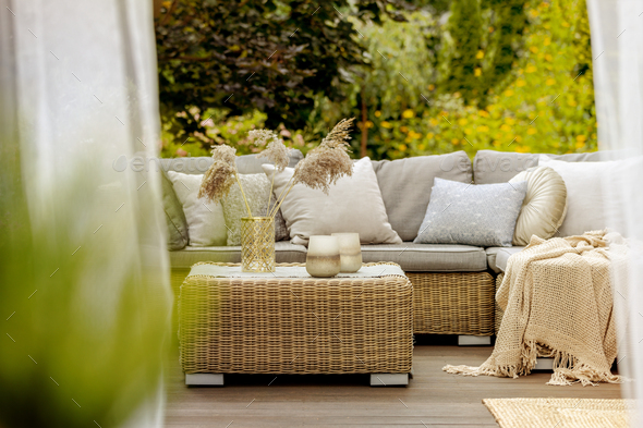 Cozy terrace - Stock Photo - Images