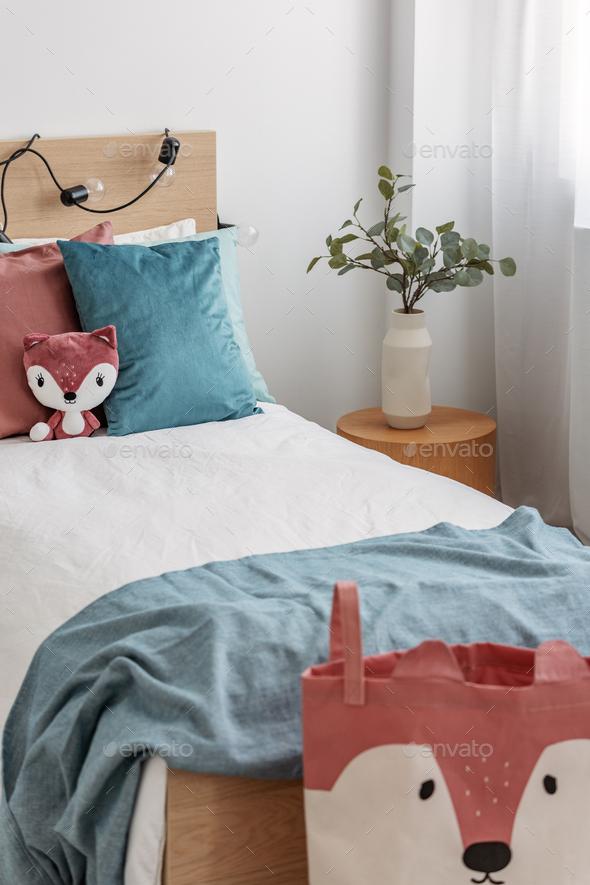 Vertical viewof kid's bedroom - Stock Photo - Images