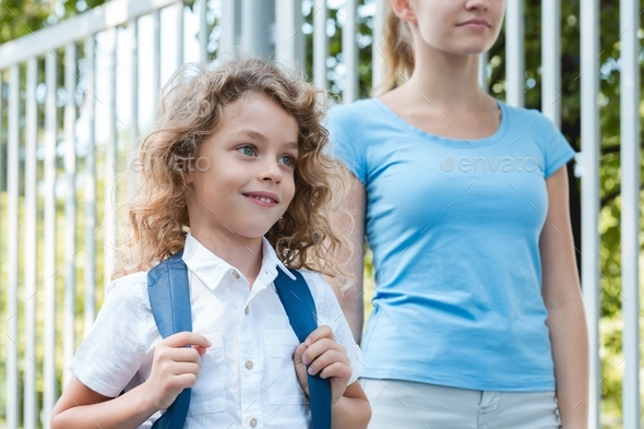 Walking to school - Stock Photo - Images