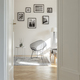 Gallery of black and white posters in frames on the wall of fashionable room - PhotoDune Item for Sale