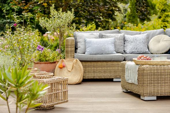 Modern designed terrace - Stock Photo - Images