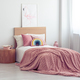 White and pastel pink scandinavian bedroom interior for kid - PhotoDune Item for Sale