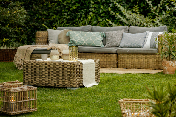Lounge in garden - Stock Photo - Images