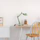 Wooden desk in white kid's bedroom - PhotoDune Item for Sale