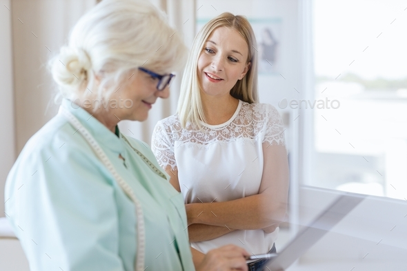 Talking about the results - Stock Photo - Images