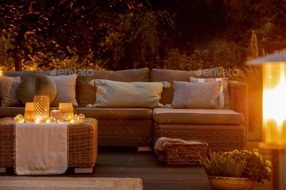 Autumn evening - Stock Photo - Images
