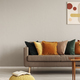 Retro style in beautiful living room interior with grey empty wall - PhotoDune Item for Sale