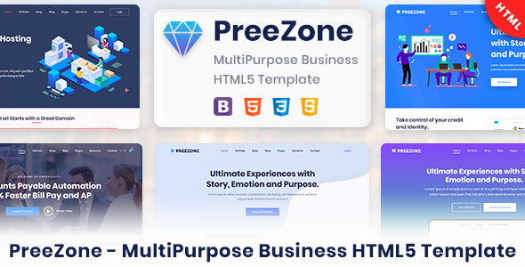 PreeZone - Multipurpose Creative HTML5 Template for Agency & Startup