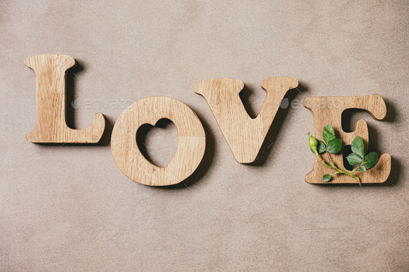 Wooden letters love - Stock Photo - Images