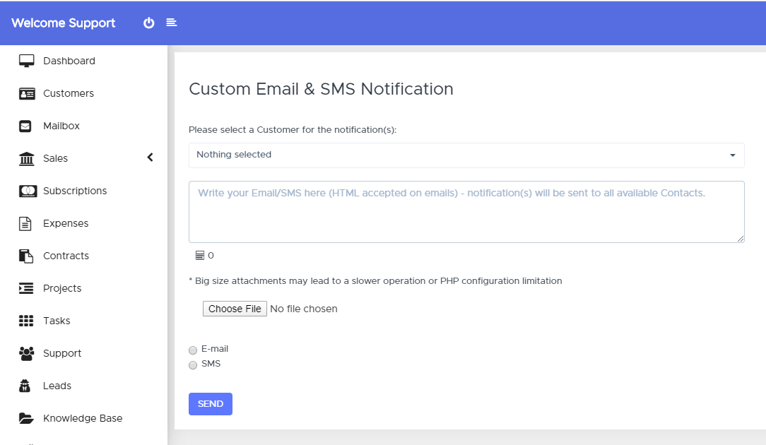 Custom SMS & Email Notifications for Pefex - 1