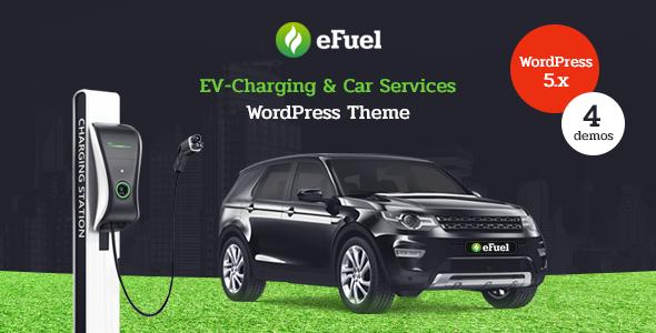 Nice Efuel - Electric Car Rental & EV Charging WordPress Theme