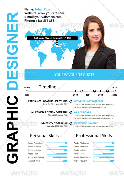 simple attractive cv by xstyler