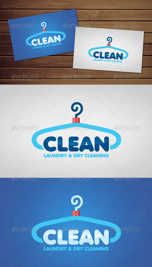 Clean Laundry Logo - Objects Logo Templates
