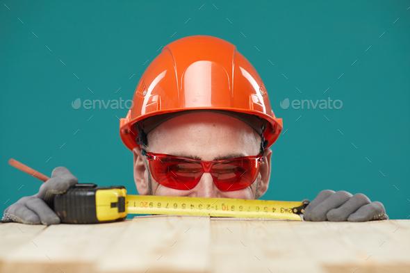 Unrecognizable Carpenter Having Fun - Stock Photo - Images