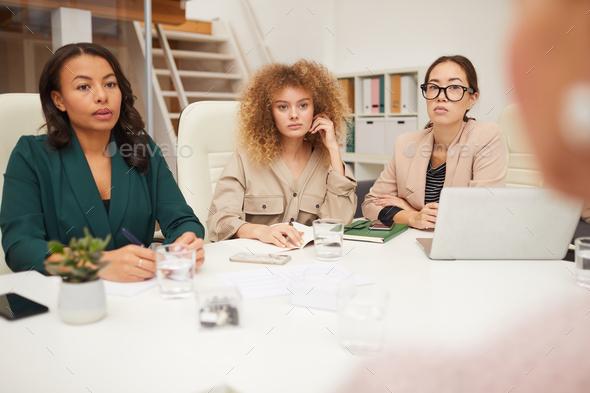 Multi-Ethnic Businesswomen Coworking - Stock Photo - Images