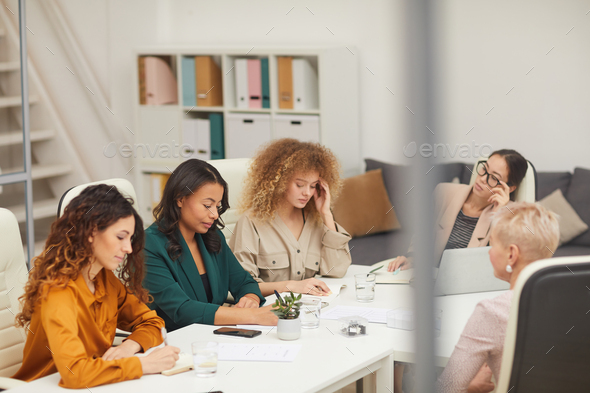 Five Women Having Business Meeting - Stock Photo - Images