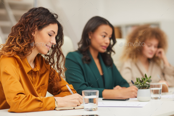 Three Young Businesswomen Working - Stock Photo - Images