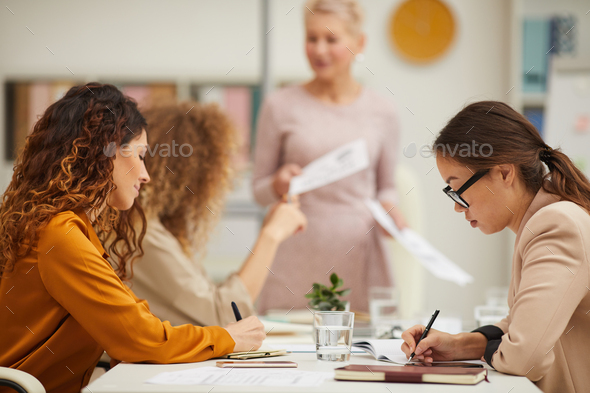 Making Notes During Business Meeting - Stock Photo - Images