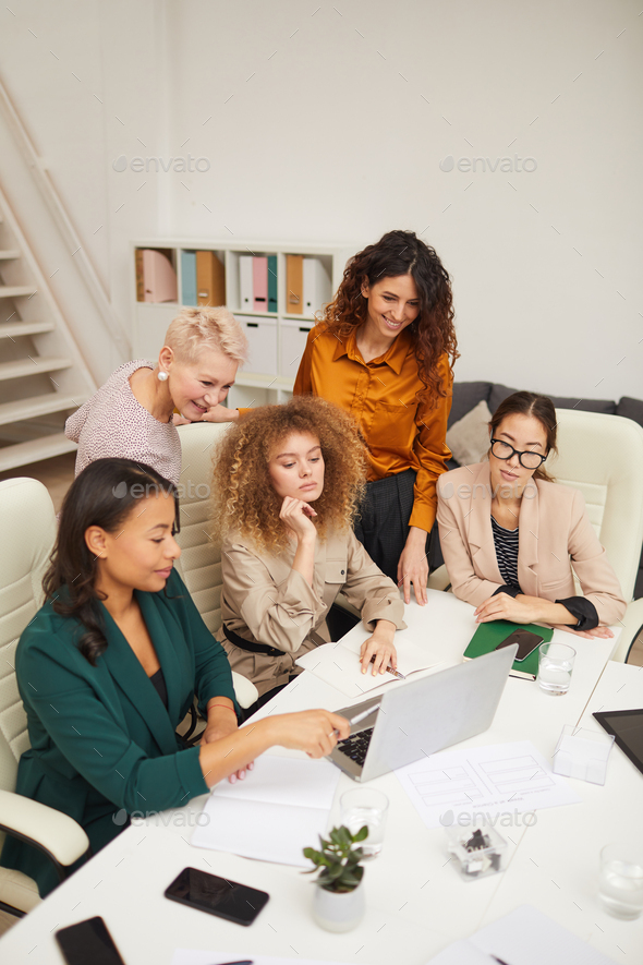 Ethnically Diverse Businesswomen Working - Stock Photo - Images