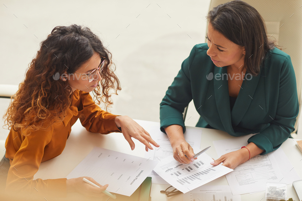 Two Budinesswomen Working In Pair - Stock Photo - Images