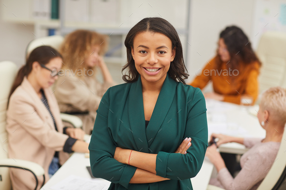 Stylish African American Businesswoman Portrait - Stock Photo - Images