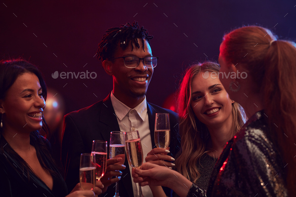 Group of People Partying in Nightclub - Stock Photo - Images