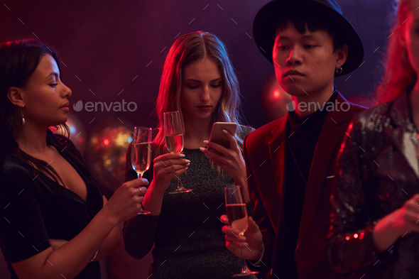 Guests at Nightclub Party - Stock Photo - Images