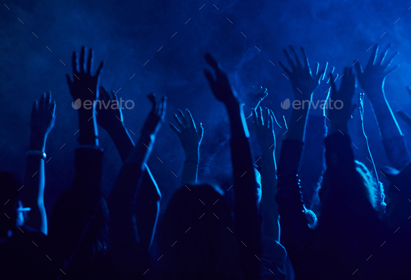 Crowd Dancing in Nightclub - Stock Photo - Images