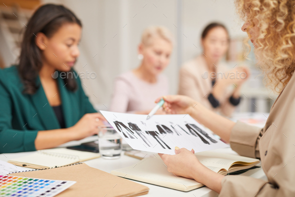 Professional Fashion Designers At Meeting - Stock Photo - Images