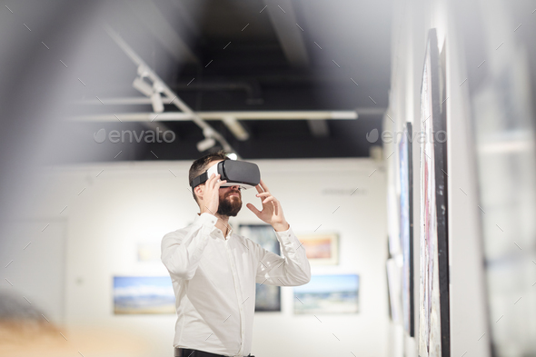 VR in Art Museum - Stock Photo - Images