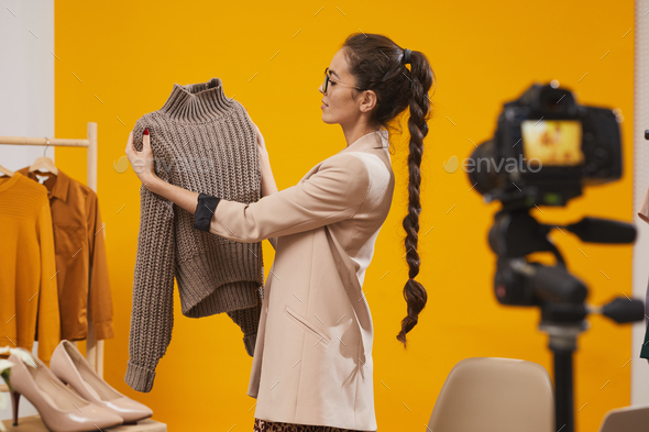 Fashion Vlogger Filming Video - Stock Photo - Images