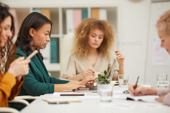 Four Businesswomen Working In Office - Stock Photo - Images