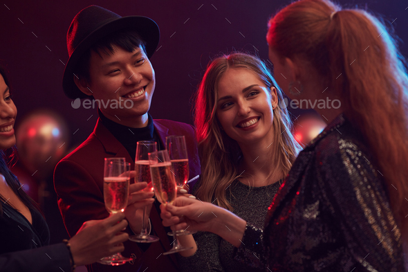 Young People Partying in Nightclub - Stock Photo - Images